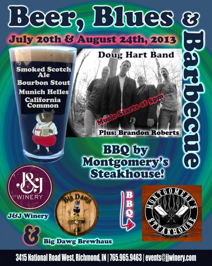 Low-Res Beer Blues and Barbecue Promotional Poster