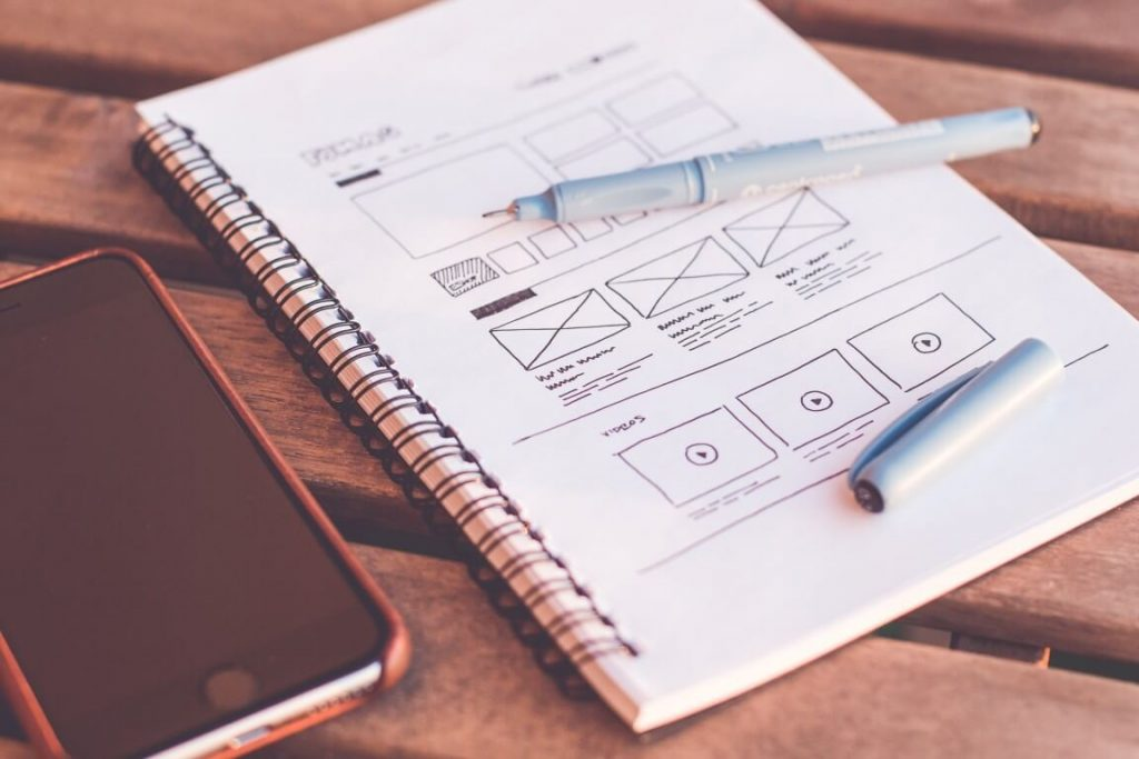 WireFrame for Landing Page