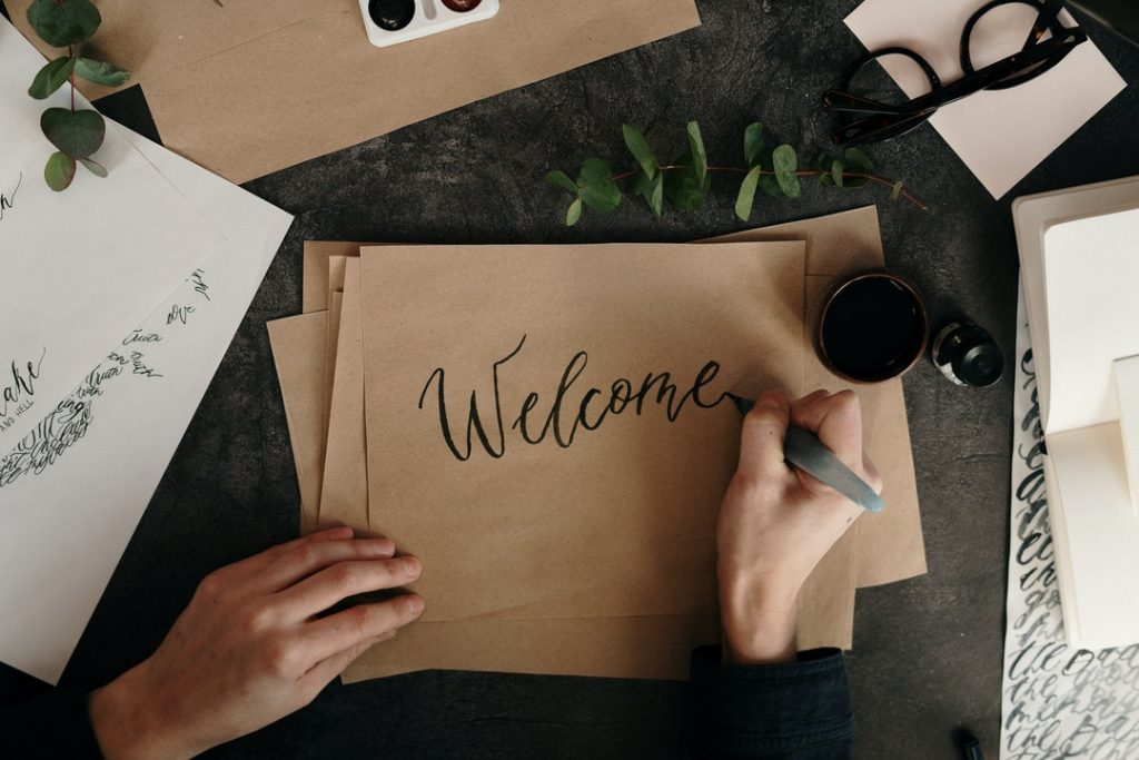 Writing a Welcome Message